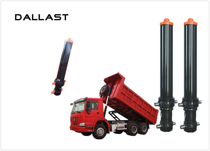 Hyva Single Acting Telescopic Hydraulic Cylinders For Agricultural Farm Truck