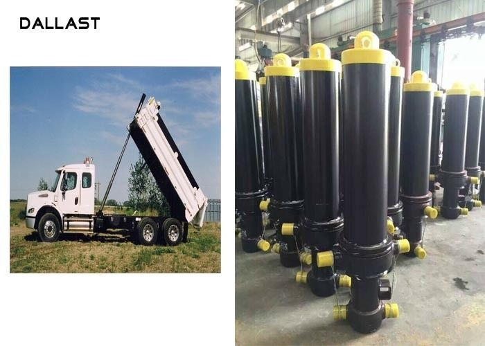 Anti Rust Painting Single Acting Telescopic Hydraulic Cylinders For Truck / Trailers