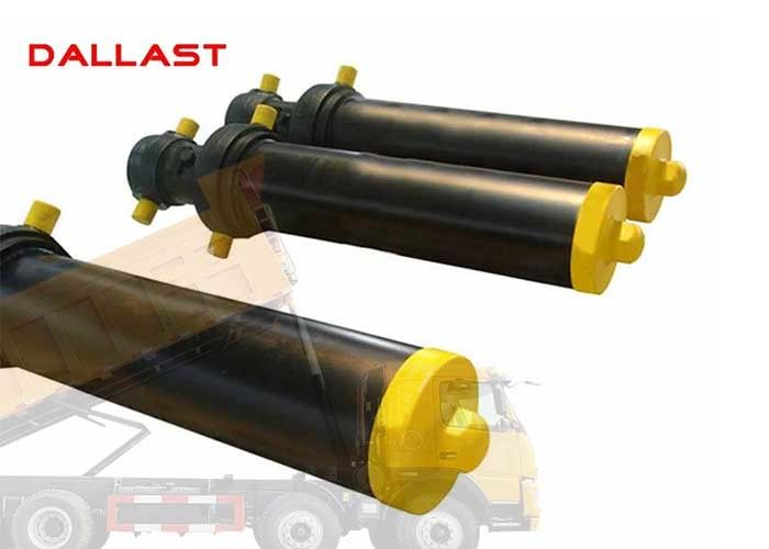 Hollow Plunger Single Acting Telescopic Cylinder Dump Truck Front Hydraulic Type