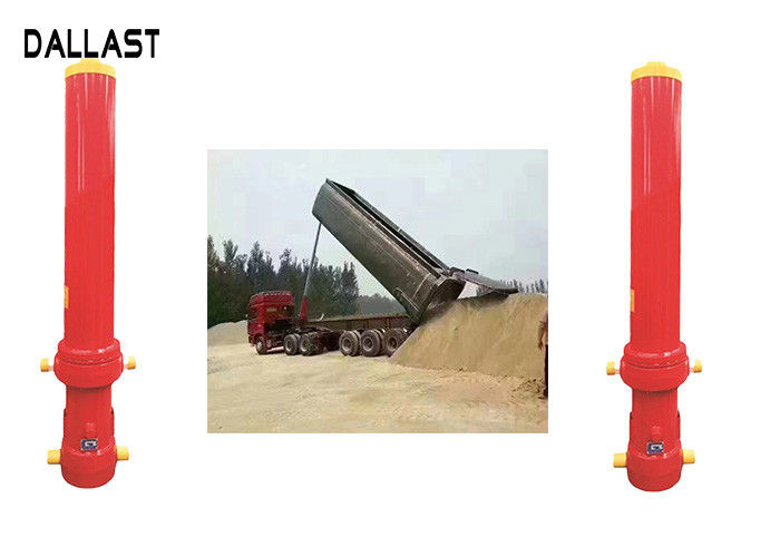 Long Stroke Single Acting Hydraulic Cylinder Multistage Inner Diameter 60 For Truck